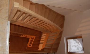 2 escaliers 1/4 tour balancés