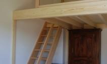 échelle meunier accès mezzanine
