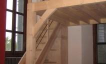 escalier et mezzanine sapin et frêne