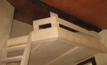mezzanine sous toit, arrivée échelle