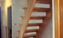 escalier à crémaillères balancé