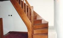 escalier hêtre, départ bien balancé