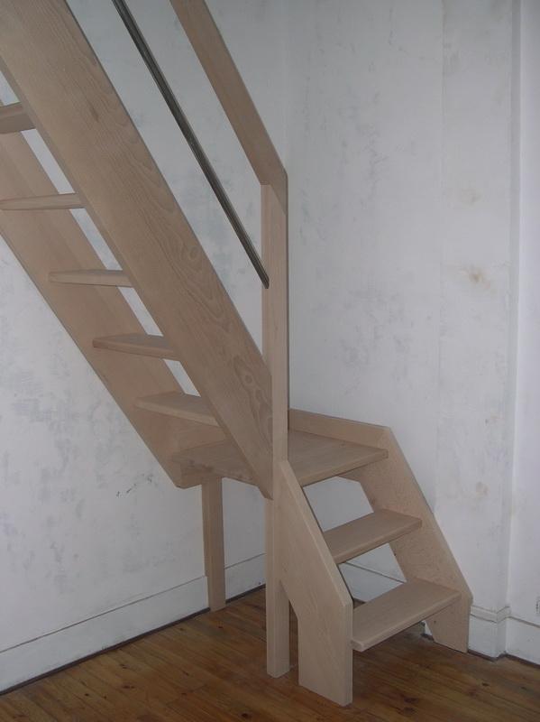 A escaliers pour espace limit jac samson - Escalier encombrement minimum ...