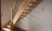 escalier 1/4 tour hêtre sans contre-marche