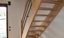 escalier 1/4 tour balancé, lisses rampe acier