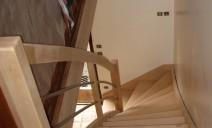 escalier 1/4 tour balancé, lisses cintrées acier