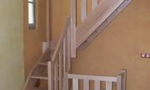 petit escalier 1/4 tour hêtre