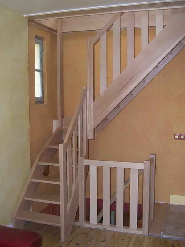 escalier normandie h tre 1 4 tournant droit pictures to pin on pinterest. Black Bedroom Furniture Sets. Home Design Ideas