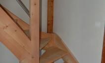 départ escalier 1/4 tour balancé mélèze