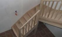 escalier 1/4 tour balancé frêne