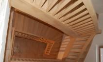 2 escaliers 1/4 tour balancés chêne