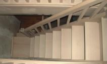 petit escalier 1/4 tour sur palier hêtre