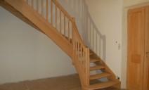 escalier 1/4 tour chêne