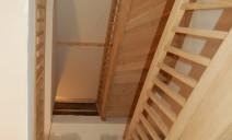 2 escaliers 1/4 tour vue de dessous