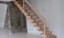 escalier crémaillère centrale sapin frêne
