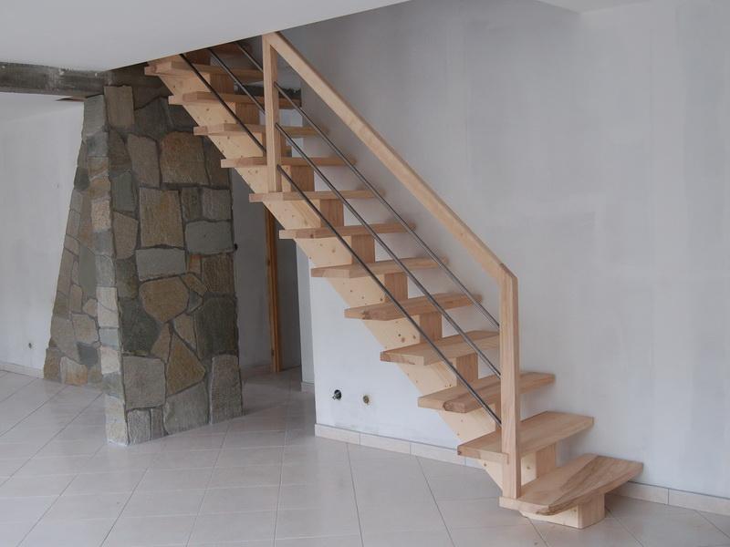 escalier en bois sapin obtenez des id es de design int ressantes en utilisant du. Black Bedroom Furniture Sets. Home Design Ideas