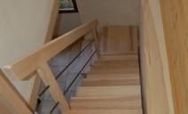 escalier 1/4 tour frêne sur palier