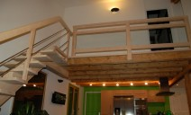 escalier CC, garde-corps verre feuilleté
