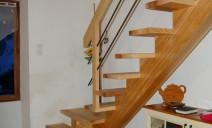 escalier CC, frêne lisses acier