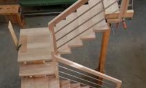 escalier CC, 2 palier frêne