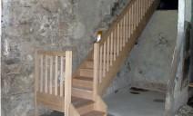 escalier 1/4 tour sur palier, chêne