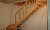 escalier droit quart tournant