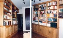 2 murs bibliothèque chataignier