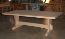 table frêne à 2 pieds