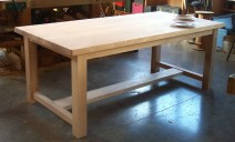 table frêne long 2m  larg 1m