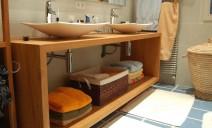 meuble sous vasque chêne épais