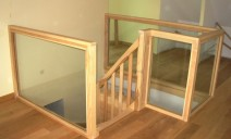 bois en rampe verre en horizontal