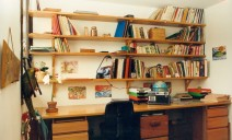 bureau étagères mélèze