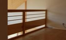 tubes inox et bois en horizontal