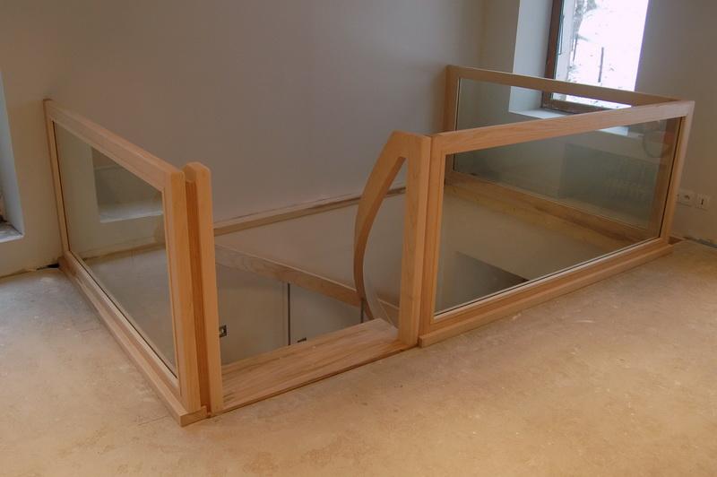 garde corps bois verre. Black Bedroom Furniture Sets. Home Design Ideas