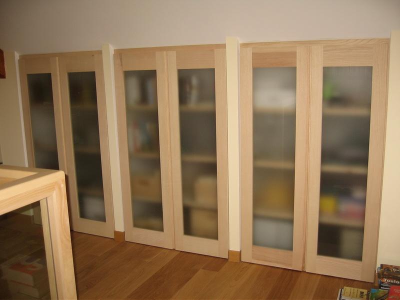 Pin placard sous pente portes battantes et miroir on pinterest - Amenagement placard castorama ...