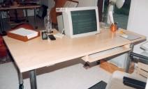 table bureau avec tirrette