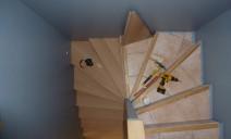escalier en cours dhabillage