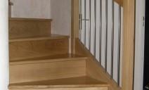habillage chêne marche et contre-marche escalier hélicoïdal