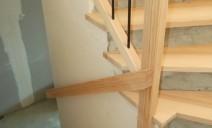 habillage marches frêne sur escalier béton