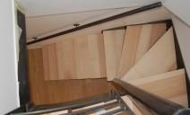 escalier demi-tour acier et frêne