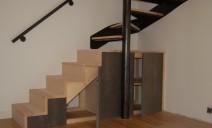 escalier-meuble, portes Valchromat