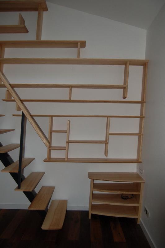Escalier poutre centrale biblioth que jac samson - Escalier poutre centrale ...