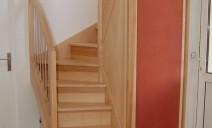 escalier demi tour frêne