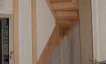 échiffre cloison escalier intégré dans espace très limité