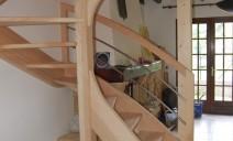 escalier 1/2 tour limons courbes