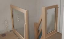 garde-corps verre et bois ouvrir sur espace réduit