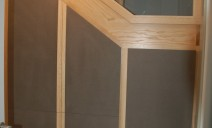 placard sous escalier  portes valchromat anthracite frêne