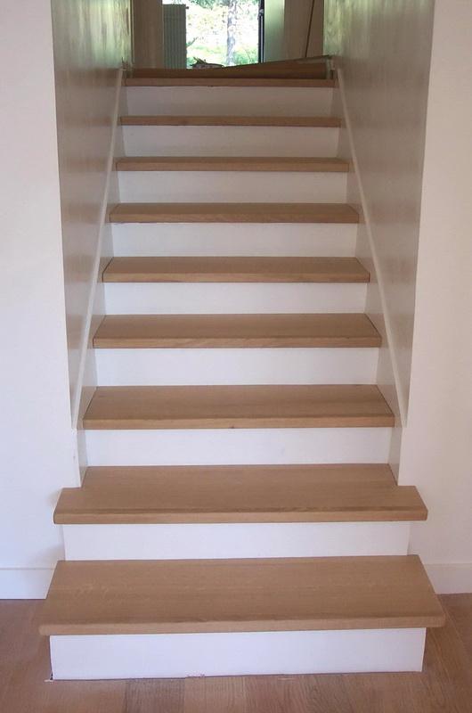Habillage Chêne Escalier Béton